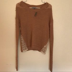 Wet Seal Crochet Chunky Sweater
